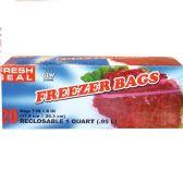 24 of Fresh Seal Gallon Storage Bag Ziploc
