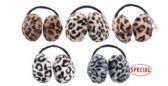 72 of Women's Jumbo Plush Earmuff In Assorted Animal Prints