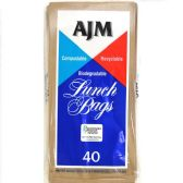30 of AJM Brown Paper Lunch Bags 40 Count