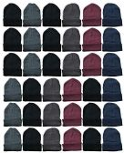 24 of Yacht & Smith Assorted Colored Unisex Winter Beanies 24 Pack