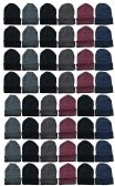 36 of Yacht & Smith Assorted Colored Unisex Winter Beanies 36 Pack