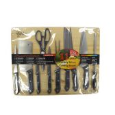 6 of 11 PIECE CUTLERY SET AND CUTTING BOARD