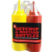 24 of 2 PACK KETCHUP AND MUSTARD BOTTLE