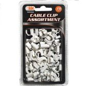 24 of 70 Piece Cable Clip Assortment