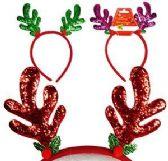 96 of Glitter Reindeer Antler Headbands