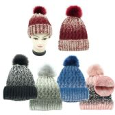 24 of Lady's Winter Cable Knit Beanie Hat