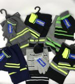 36 of BOYS 3-PIECE STRIPE SET HAT-GLOVES-SCARF