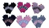 60 of Womens Knitted Winter Stretch Gloves