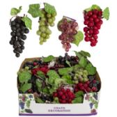 48 of Grape Decor Small Cluster With Silk Leaves