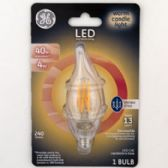 4 of Light Bulb Vintage Style Bent Tip Candle Base Warm Light