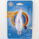 4 of Light Bulb Led Deco Daylight Clear Finish Bent Tip Carded
