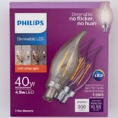 4 of Light Bulb Philips Deco Candle Base