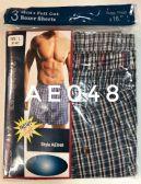 144 of Mens Boxer Shorts Plaid Print