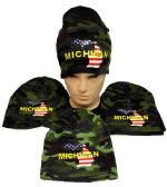 24 of Winter Beanie Hat Michigan Camo
