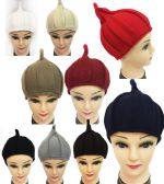 36 of Winter Knitted Women Hat with Pointy End Assorted Color