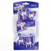 36 of Razors Pivot Head 4 Pack Womens Triple Blade Carded Xtracare