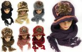 24 of Women's Winter Knitted Hat And Scarf Sets Assorted