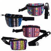24 of Kids Camo Bulk Fanny Packs Belt Bags in 4 Assorted Colors