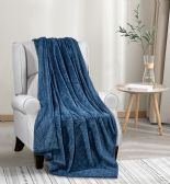 12 of Oversized Jacquard Throw 50 X 70 In Blue
