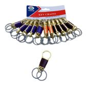 """36 of 3.5"""" Key Chain Clip [Dual Rings/Gold w Assorted Color]"""