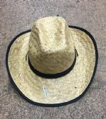48 of Unisex Adults Straw Cowboy Hat With Adjustable Drawstring