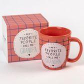 18 of Mug Color Glaze Stoneware Grandpa Boxed