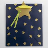 60 of Gift Bag Cub Embellished Blue Starry Night