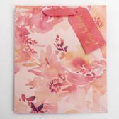 60 of Gift Bag Cub Embellished Coral Floral