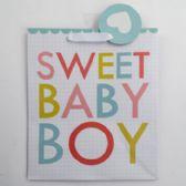 60 of Gift Bag Cub Embellished Sweet Baby Boy