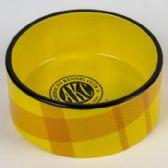 8 of Pet Bowl Yellow Plaid