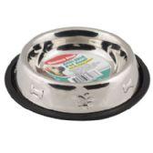 36 of Pet Bowl Stainless Steel 16 Oz 2 Cup Anti-skid 150g 6.10 X 8.26 Paw/bone Embossed