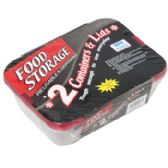 24 of Food Storage Container 2 Pack Disposable