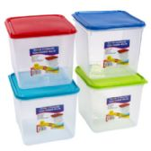 24 of Food Storage Container Assorted Color Clear Bottom