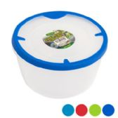 48 of Food Storage Container Round With Rubber Edge On Lid