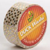 24 of Tape Crafting Duck Washi Metallic Gold Dots