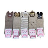 36 of Women's Furry Animal Face Ankle Socks
