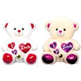 6 of Valentine Plush Teddy Bear With Heart Assorted Color