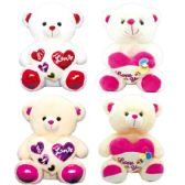 24 of Valentine Plush Bear With Heart Assorted
