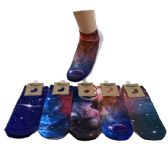 36 of Women's Galaxy Print Casual Ankle Socks