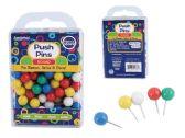 96 of 100pc. Round Push Pins