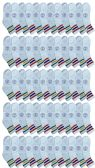 72 of Yacht & Smith Wholesale Bulk Womens Mid Ankle Socks, Cotton Sport Athletic Socks - Size 9-11, (White with Stripes, 72)