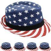 24 of FEDORA HAT IN AMERICAN FLAG PRINT