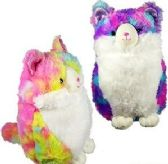 24 of Plush Tie Dyed Chubby Cats