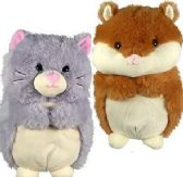 6 of Plush Chubby Hamsters and Cats