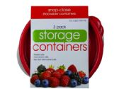 36 of 3 Pack Plastic Round Food Container