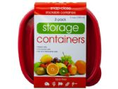 36 of 3 Pack Plastic Deep Square Food Container
