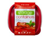 36 of 3 Pack Plastic Square Food Container