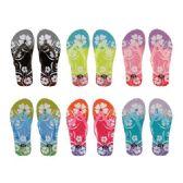 72 of Women's Flower Design Flip Flops