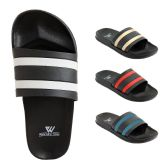 48 of Mens Slide Sandals Assorted Colors