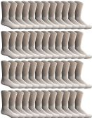 48 of Yacht & Smith 48 Pack Men's Cotton Crew Socks Heavy Cotton Great For Donations and Sock Drives. (White, Mens 10-13)